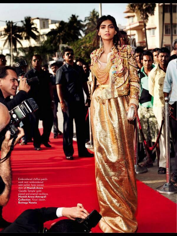 Sonam Kapoor Latest Hot Glamour Look On Red Carpet For Vogue June 2013