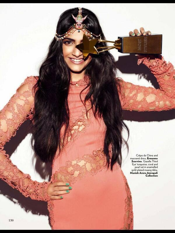 Sonam Kapoor With Most Stylist Award On The Cover Of Vogue