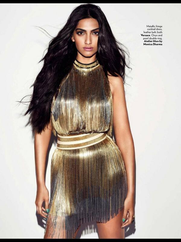 Vogue's June Cover Star Sonam Kapoor In Versace