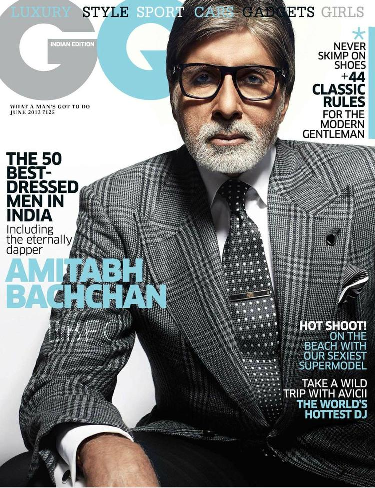 Amitabh Bachchan On The Cover GQ India June 2013