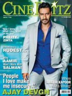 Hot Popular Star Ajay Devgan On The Cover Of Cine Blitz  June 2013