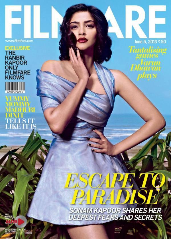 Sonam Kapoor On The Cover Of Filmfare Magazine