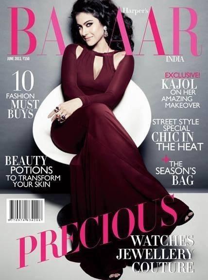 Kajol On Harper's Bazaar June 2013 Cover In Just Cavalli