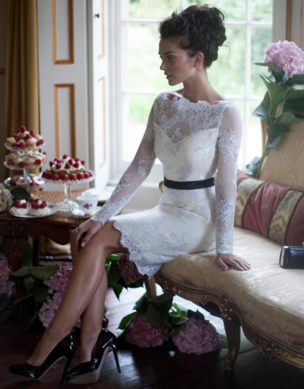 Amy Jackson Lace Shift Dress Sizzling Photo Shoot