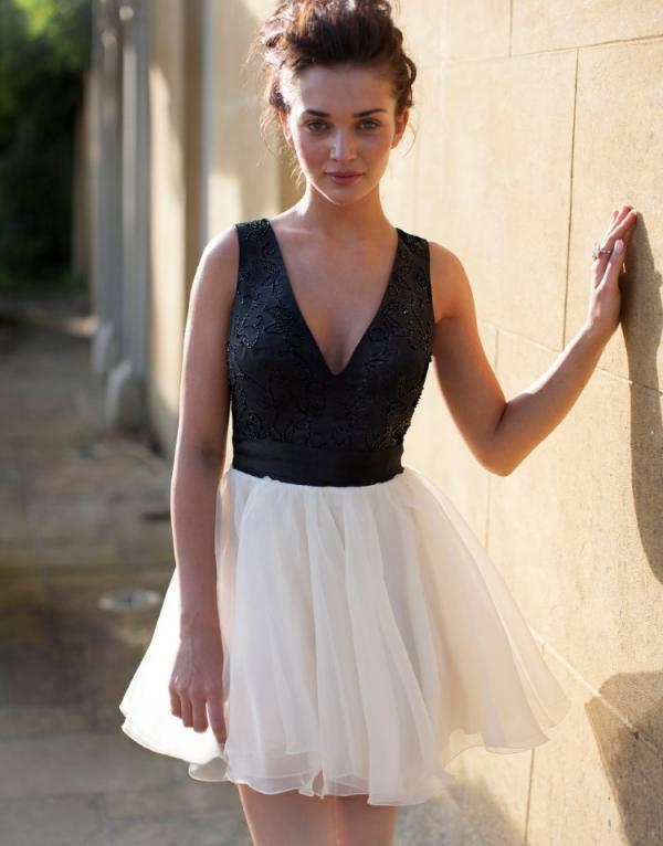 Lipsy V I P V Beaded Detail Bow Prom Dress