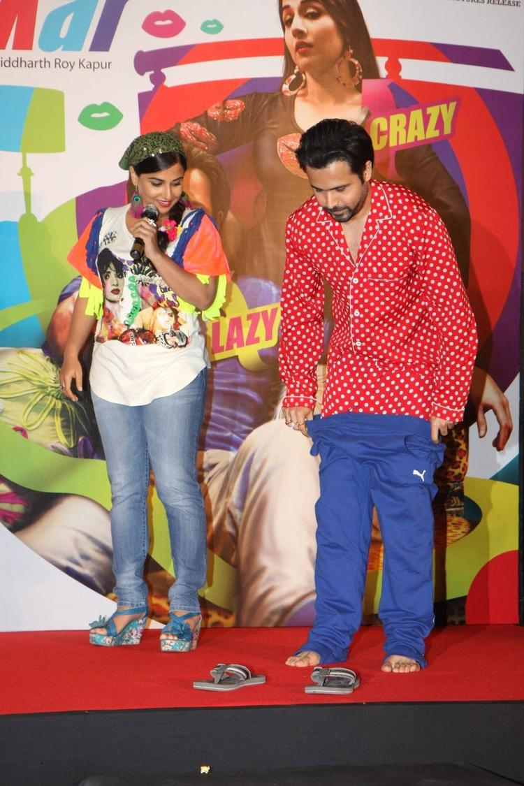Vidya And Emraan Attend The Music Launch Of Ghanchakkar Song Lazy Lad