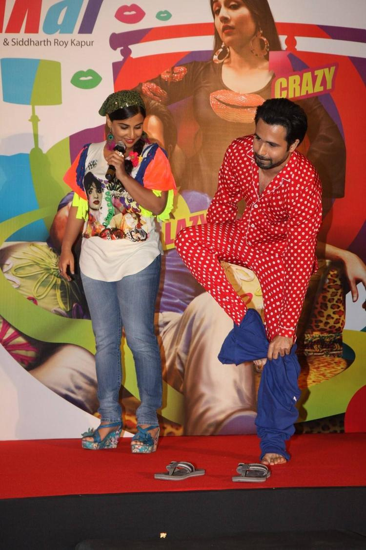 Vidya And Emraan Cool At The Music Launch Of Ghanchakkar Song Lazy Lad