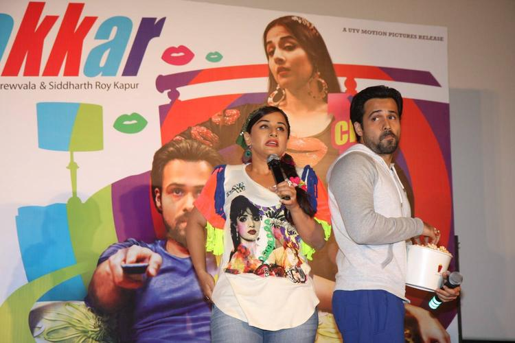Vidya Speaking And Emraan Posed At The Music Launch Of Ghanchakkar Song Lazy Lad