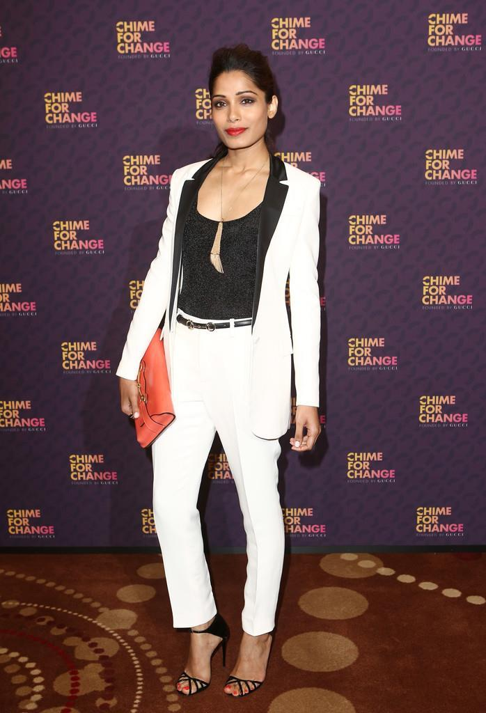 Freida Attended The Chime For Change Concert In London