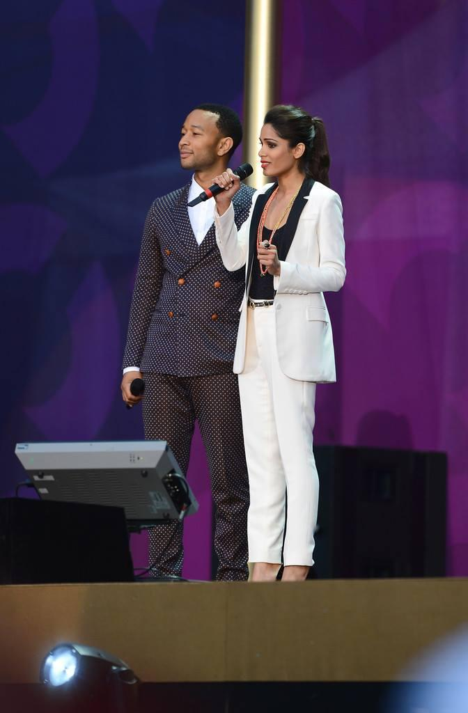 Freida Pinto And John Legend Attend The Chime For Change Concert Media Room