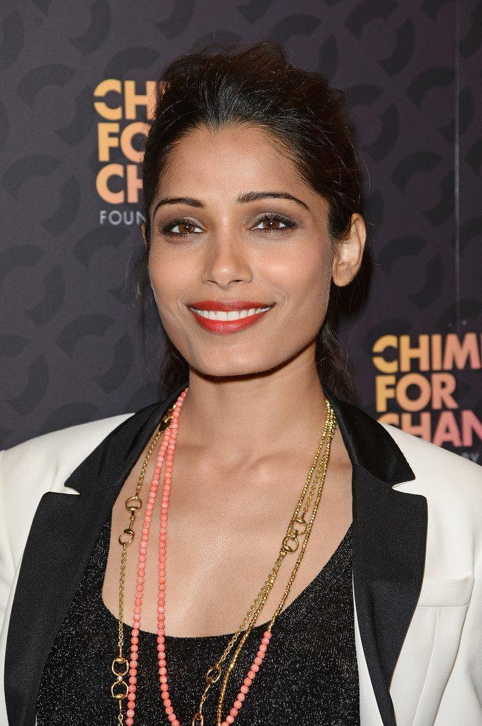 Freida Pinto At The Chime For Change Concert In London
