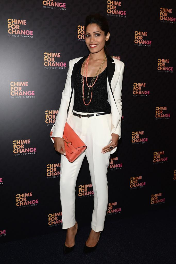 Freida Pinto At Chime For Change Concert