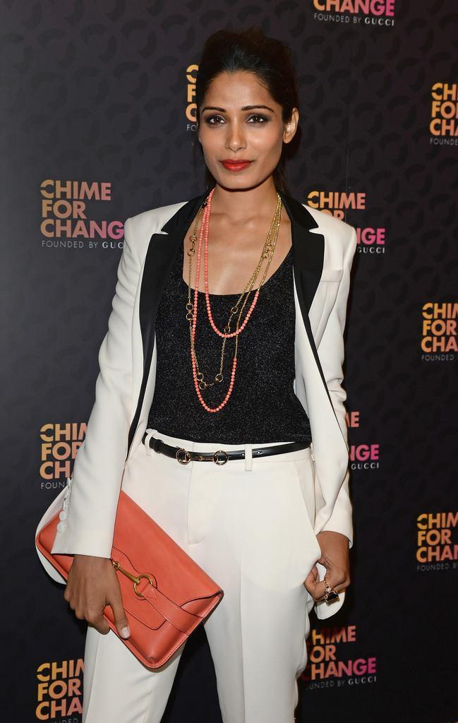 Freida Pinto Nice Pic During The Chime For Change Concert In London