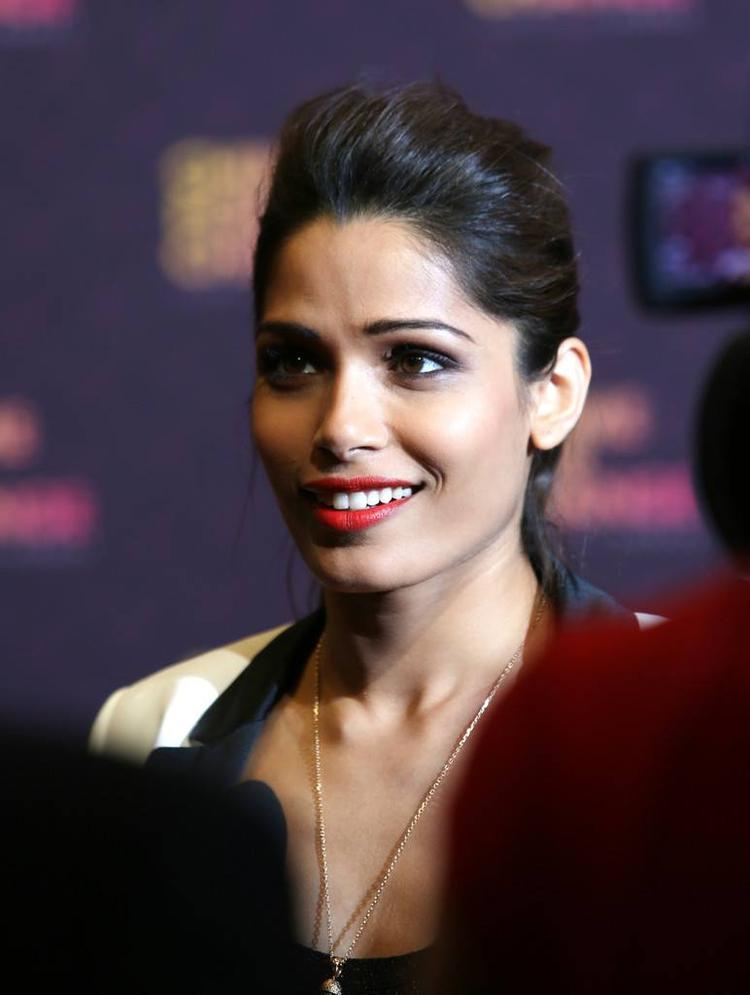 Freida Pinto Spotted At The Chime For Change Concert In London