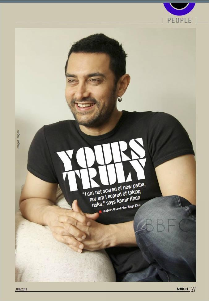 Style Icon Aamir Khan On The Cover Of Notch June 2013
