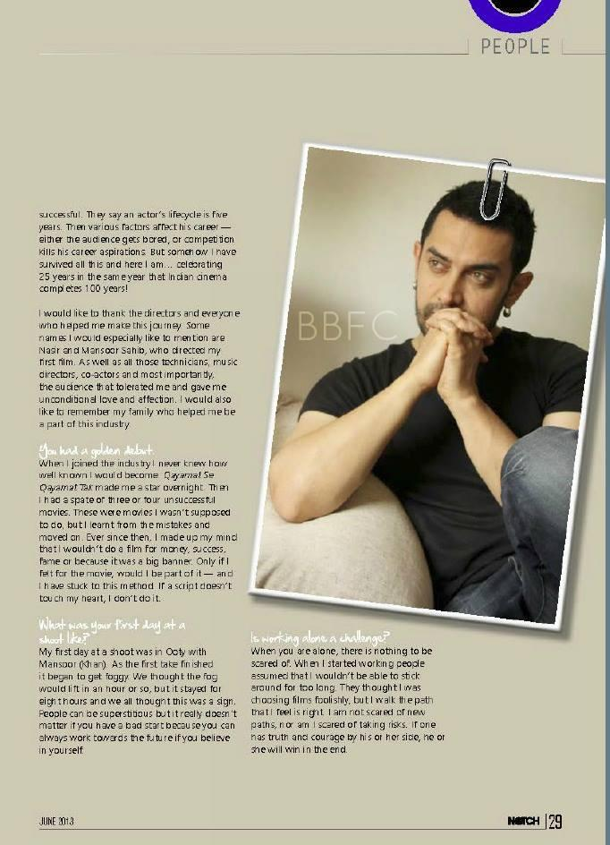 Superstar Aamir Khan Notch Magazine Still