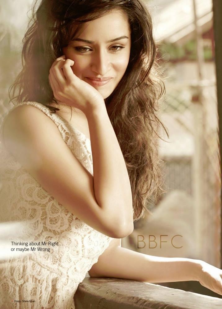 Shraddha Kapoor Cute Smiling Look Photo Shoot For Filmfare June 2013