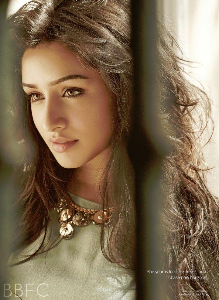 Shraddha Kapoor Dazzling Nice Face Look Photo Shoot For Filmfare June 2013