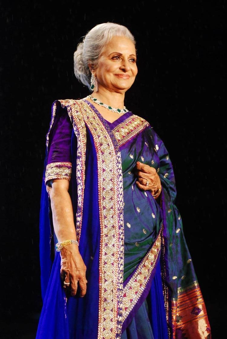 Waheeda Rehman Walk Ramp For Shaina NC In Support Of Cancer Patients