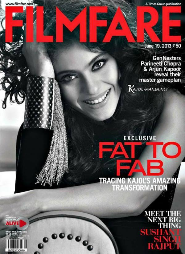 Kajol On The Cover Of Filmfare Magazine Issue