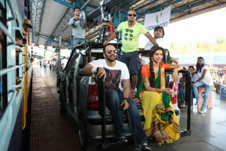 Deepika And Rohit Pic On The Sets Of Chennai Express