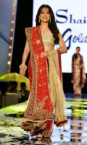 Juhi Chawla Walks For Designer Shaina NC At CPAA Fashion Event