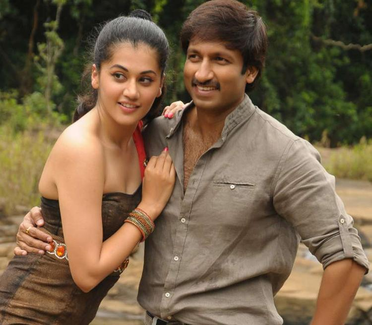 Gopichand And Taapsee Cool Pose Still From Sahasam Movie