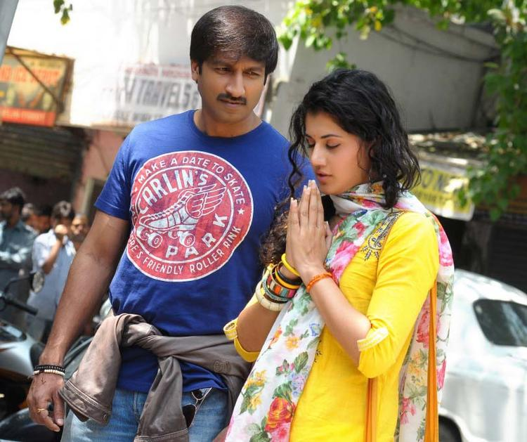 Gopichand And Taapsee A Still From Sahasam Movie