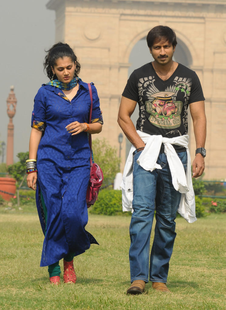 Taapsee And Gopichand Cool From Sahasam Movie