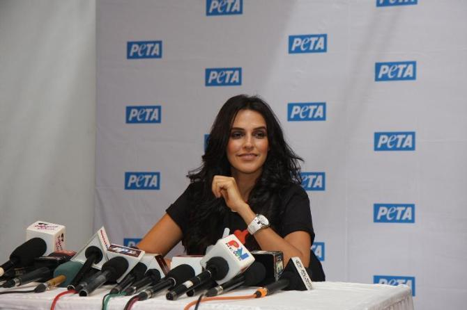 Neha Dhupia At PETA Press Meet During The Occasion Of World Environment Day