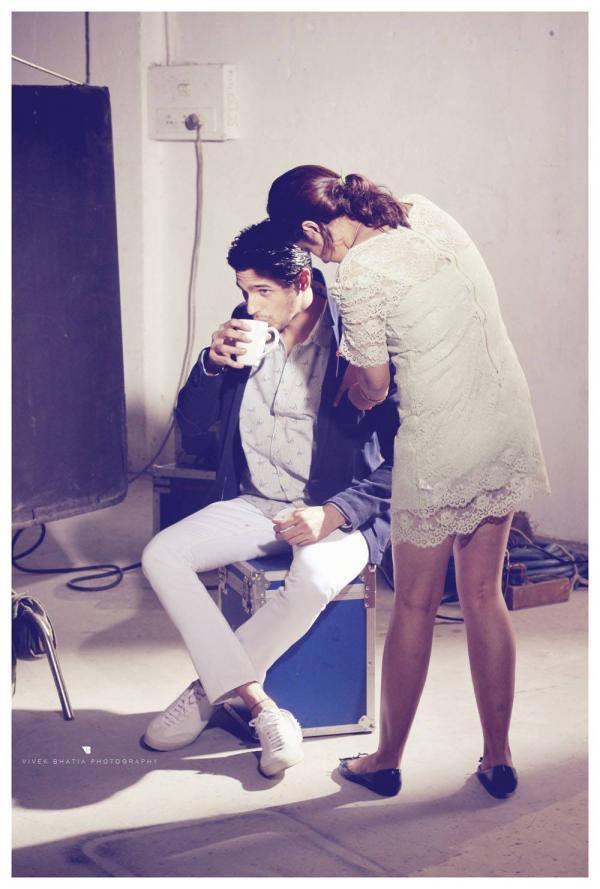 Sidharth Malhotra Take Coffee On The Set Of Filmfare Magazine Photo Shoot