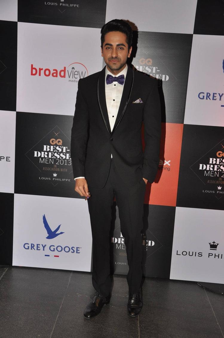 Bollywood Hunk Ayushman Khurana At GQ Best Dressed Party 2013