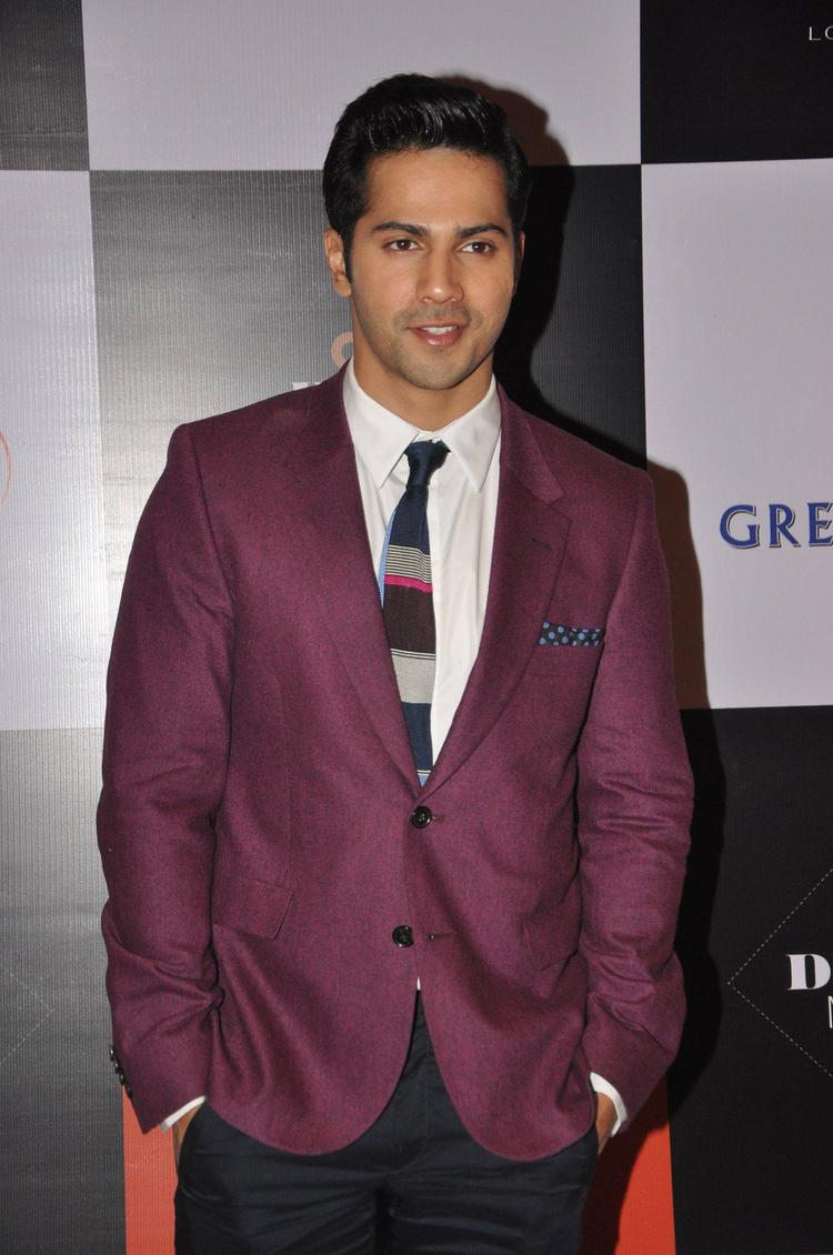 New Bollywood Star Varun Dhawan At GQ Best Dressed Party 2013