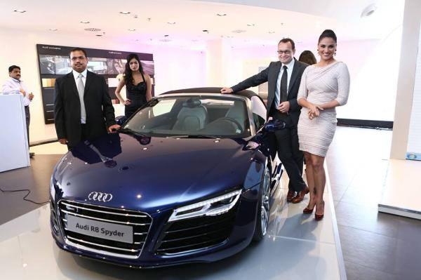 Hot Actress Lara Dutta Launches The New Audi Showroom In Bhubaneshwar