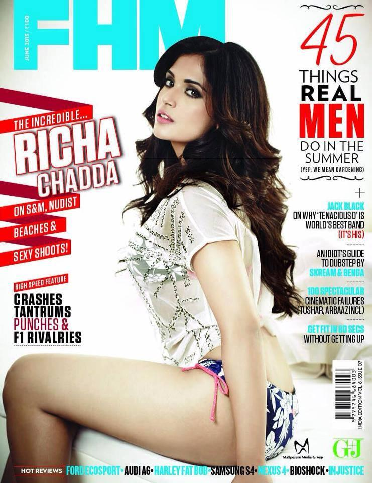Richa Chadda On The Cover Of FHM June 2013