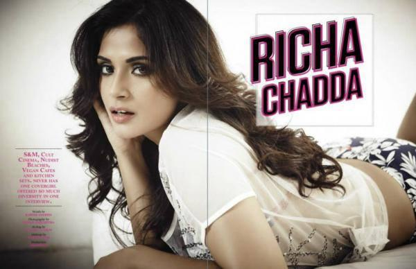 Richa Chadda Sizzling On FHM June 2013