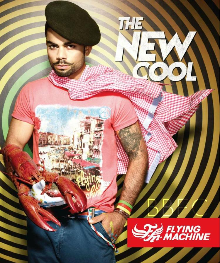 Virat Kohli Cool And Cute Look For Ad Flying Machine Jeans
