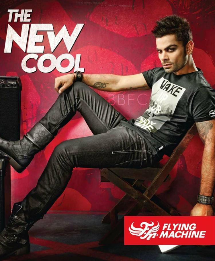Virat Kohli's Cool Stylish Pic For Flying Machine AD