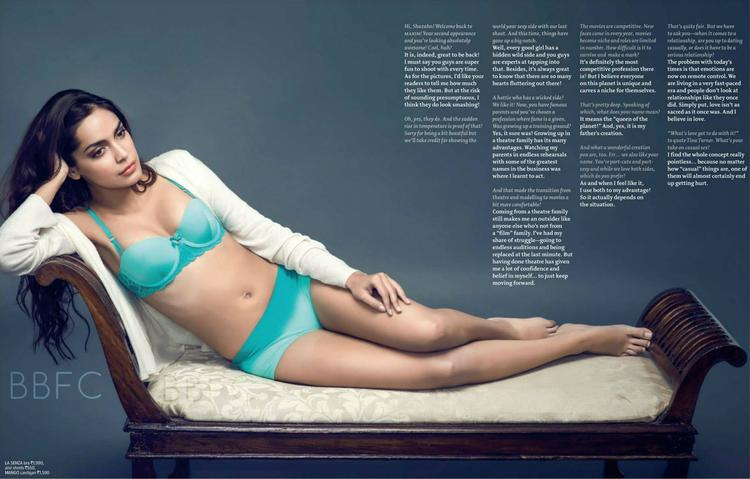 Shazahn Padamsee In Bikini Sexy Spicy Pose Photo Shoot For Maxim India Magazine June 2013