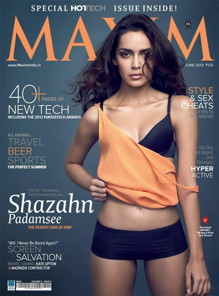 Shazahn Padamsee Sexy Look Graced On Maxim India Magazine June 2013