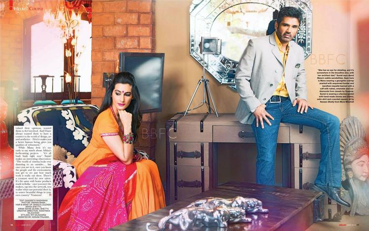 Mana With Hubby Sunil Stylish Look Photo Shoot On Hello! India Magazine June 2013