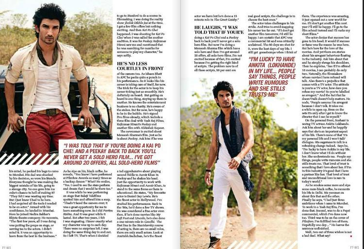 Sushant Singh Rajput Smart Hot Look Photo Shoot For Filmfare June 2013