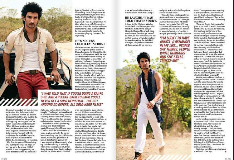 Sushant Singh Rajput Smart Hot Look Photo Shoot For Filmfare June 2013