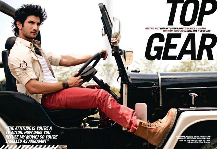 Sushant Singh Rajput Stylish Pose Photo Shoot For Filmfare June 2013
