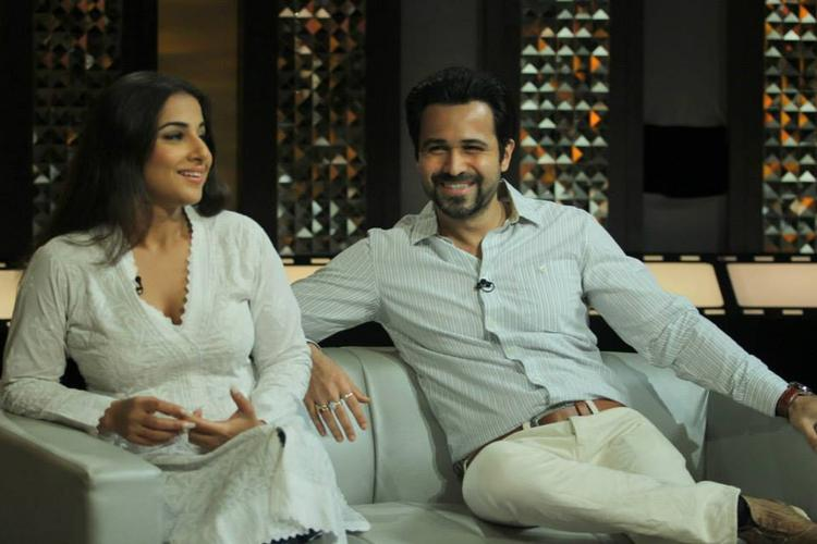 Emraan And Vidya Smiling Pic During The Front Row With Anupama