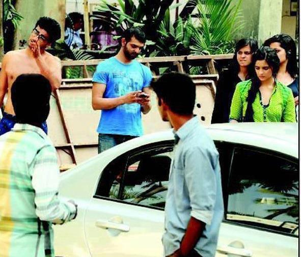 Arjun Kapoor And Alia Bhatt At IIMA Ahmadabad On The Set Of  States