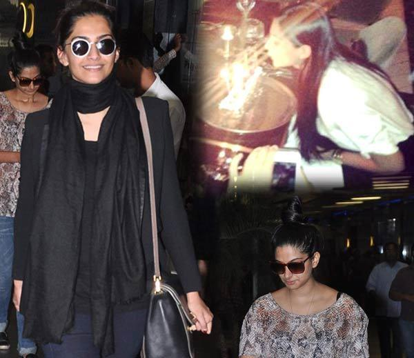 Both Sister Sonam And Rhea Spotted At Airport Return From Paris