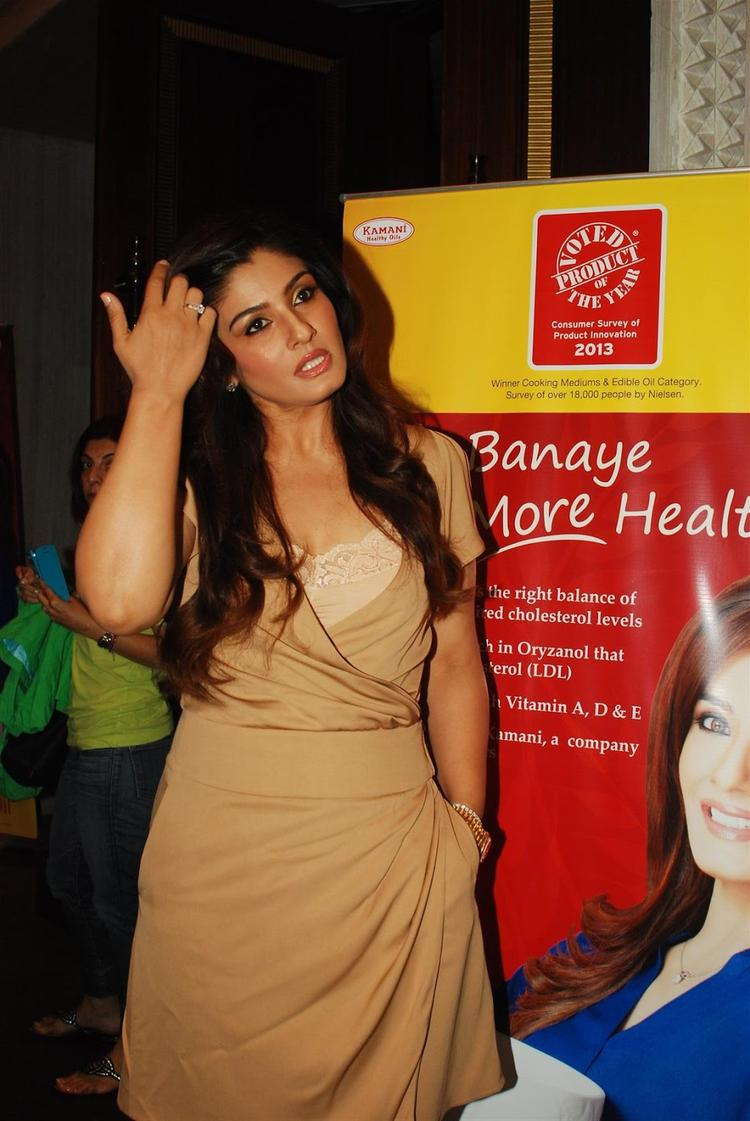 Raveena Tandon Arrived To Launch The Riso Rice Bran Oil In Mumbai