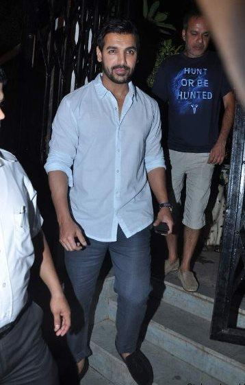 John Abraham Spotted At Dewan's New Restaurant For Dinner
