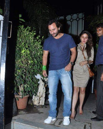 Kareena With Hubby Saif Snapped At Dewan's New Restaurant For Dinner